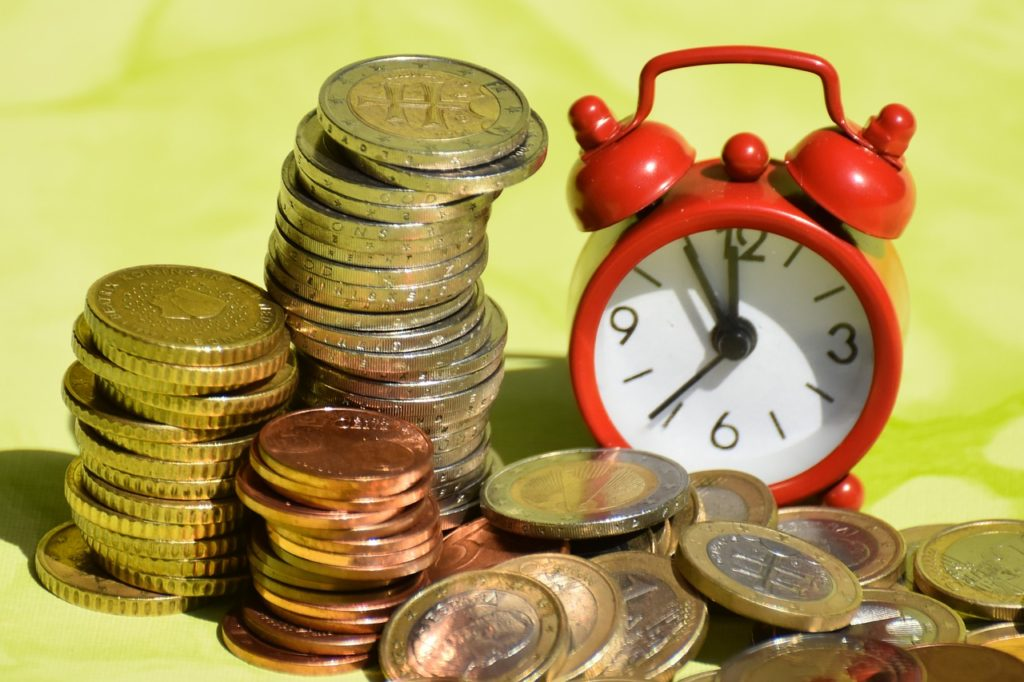 time is money, coins, currency